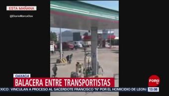 FOTO: Transportistas se enfrentan en Oaxaca