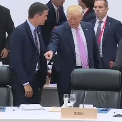 Trump 'manda sentar' al español Pedro Sánchez en la Cumbre G20