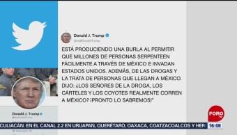 FOTO: Trump publica nuevo tuit sobre México, 1 Junio 2019