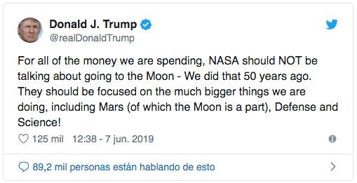 Foto La Luna es parte de Marte: Trump 10 junio 2019