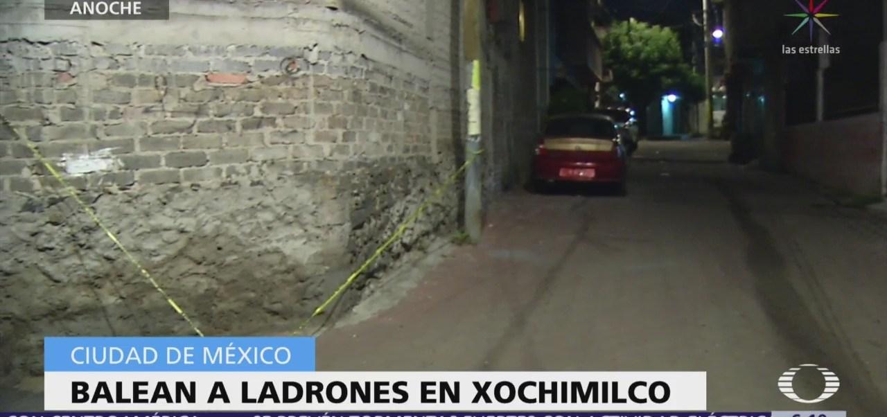 Víctima balea a dos ladrones en alcaldía Xochimilco