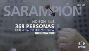 Foto: Vigilancia epidemiológica por sarampión en Q. Roo