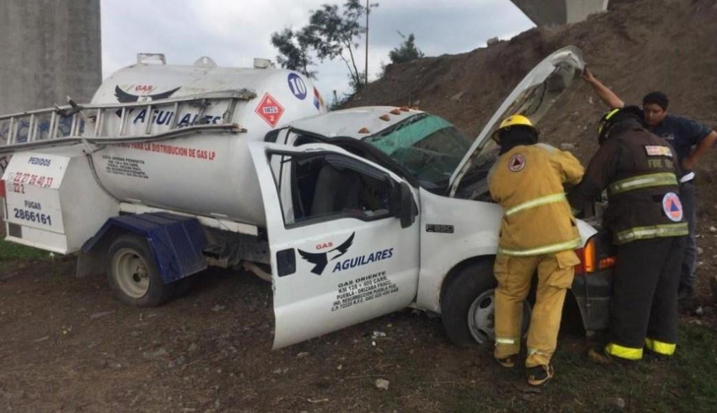 Foto: El accidente ocurrió en la autopista México-Puebla con sentido a Veracruz, el 22 de junio de 2019 (Noticieros Televisa, especial)