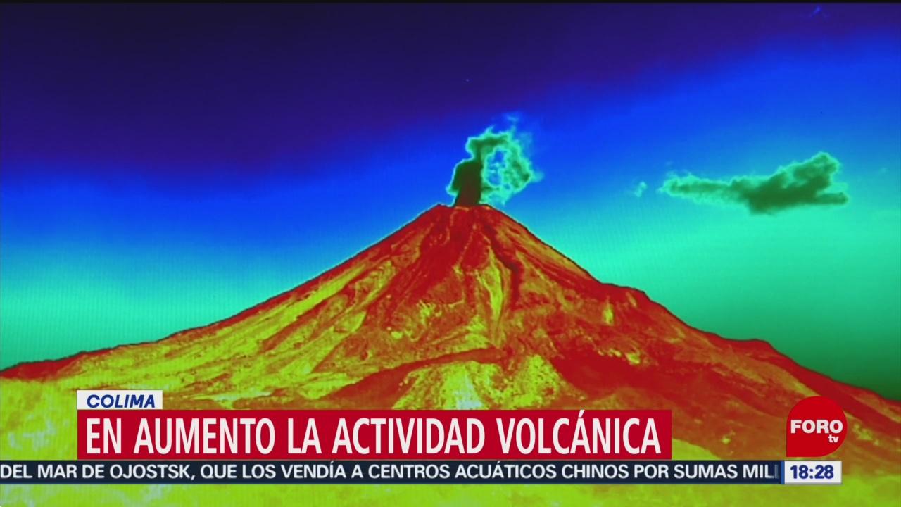 Foto: Volcán de Fuego de Colima aumenta su actividad