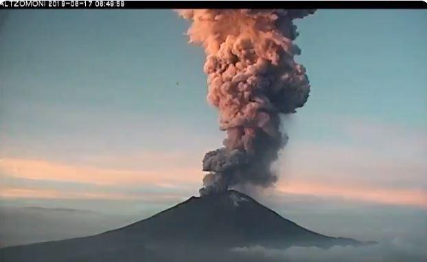 Foto Popocatépetl registra explosión con altura de entre 4 y 5 km 17 junio 2019