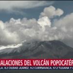 256 exhalaciones en el Popocatépetl