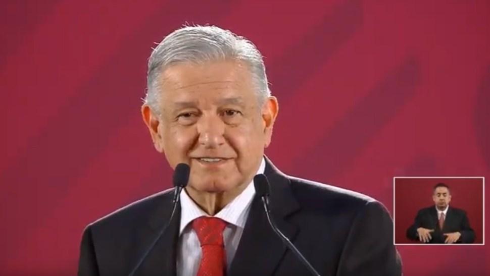 Foto: López Obrador en conferencia de prensa desde Palacio Nacional, 4 de julio de 2019, Ciudad de México