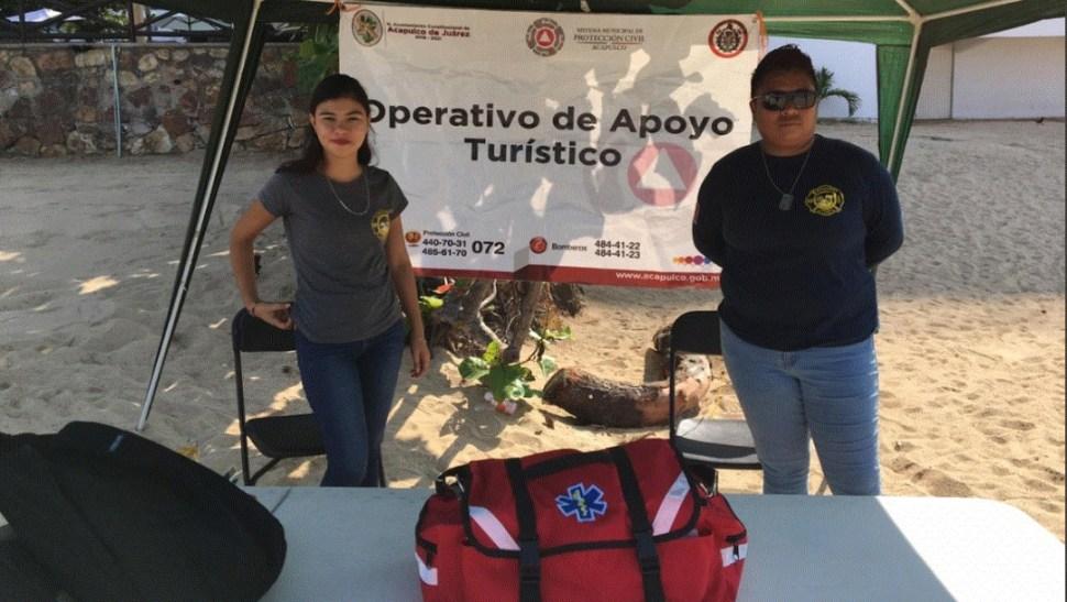 Imagen: Para garantizar la seguridad de los turistas fuerzas federales implementaron un operativo de seguridad, 17 de julio de 2019 (Twitter @pcivilacapulco, archivo)