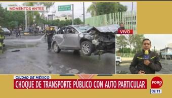 Accidente deja ocho lesionados en Venustiano Carranza