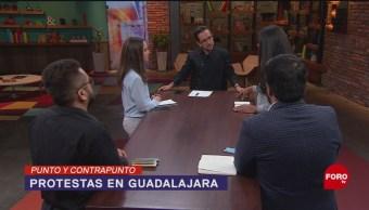 Foto: Con gritos de Alfaro Represor y Alfaro Renuncia, un grupo de ciudadanos protestó luego de que cinco jóvenes fueron detenidos el viernes en Guadalajara; ¿en qué terminaron las manifestaciones? 29 Julio 2019