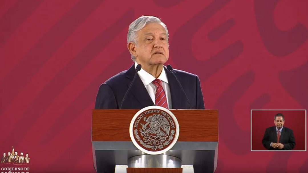 Foto: El presidente de México, Andrés Manuel López Obrador (AMLO), ofrece una conferencia de prensa, 31 julio 2019