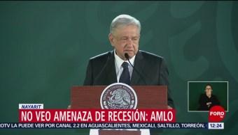 AMLO no ve amenaza de recesión en México, responde a BofA
