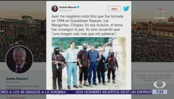 AMLO publica fotografía con el subcomandante Marcos