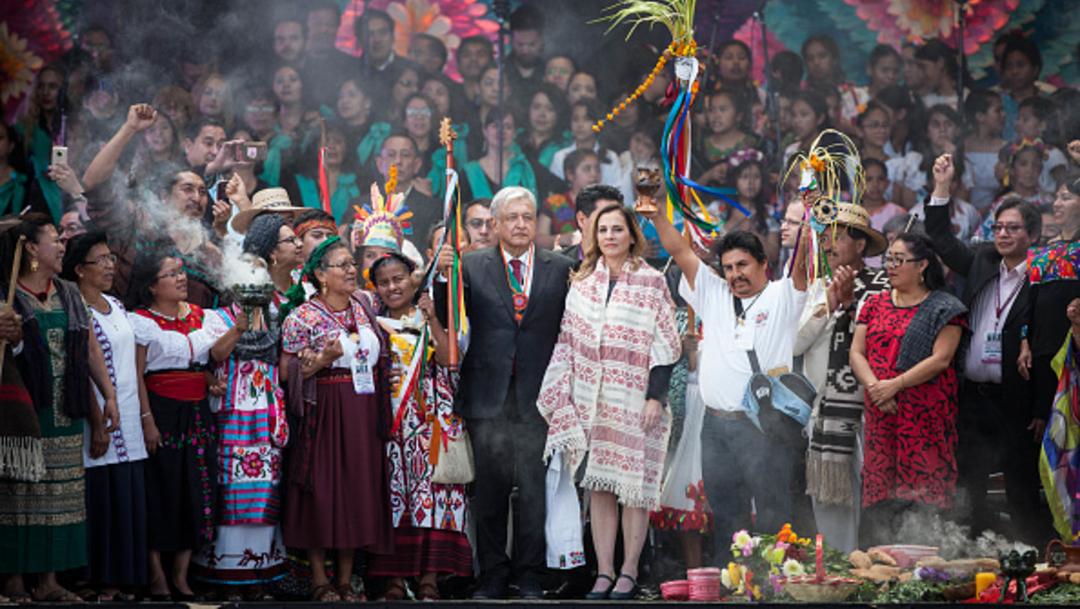 Imagen: AMLO tendrá este 1 de julio de 2019 una nueva demostración de fuerza y popularidad en el Zócalo de la Ciudad de México, el 1 de julio de 2019 (Getty Images, archivo)