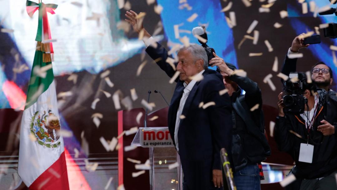 Foto:AMLO celebraba su triunfo el 1 de julio de 2018, Ciudad de México