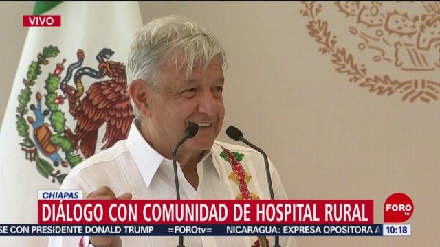 FOTO: AMLO visita hospital rural en San Cristóbal de las Casas, 7 Julio 2019