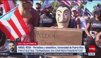 Ángel Rosa analiza jornada de protestas en Puerto Rico
