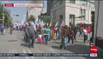 Antorchistas marchan hacia el Zócalo CDMX