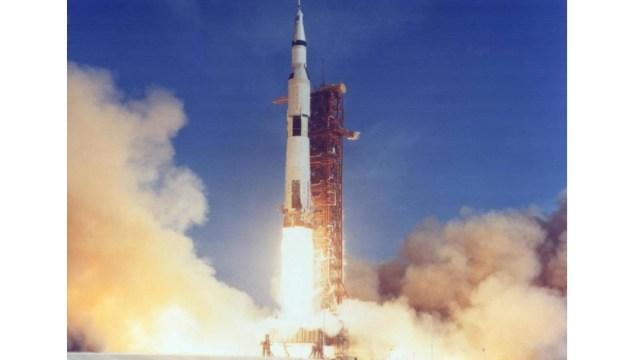 Foto: Lanzamiento del Apolo 11 a la Luna, 16 de julio de 1969, Estados Unidos