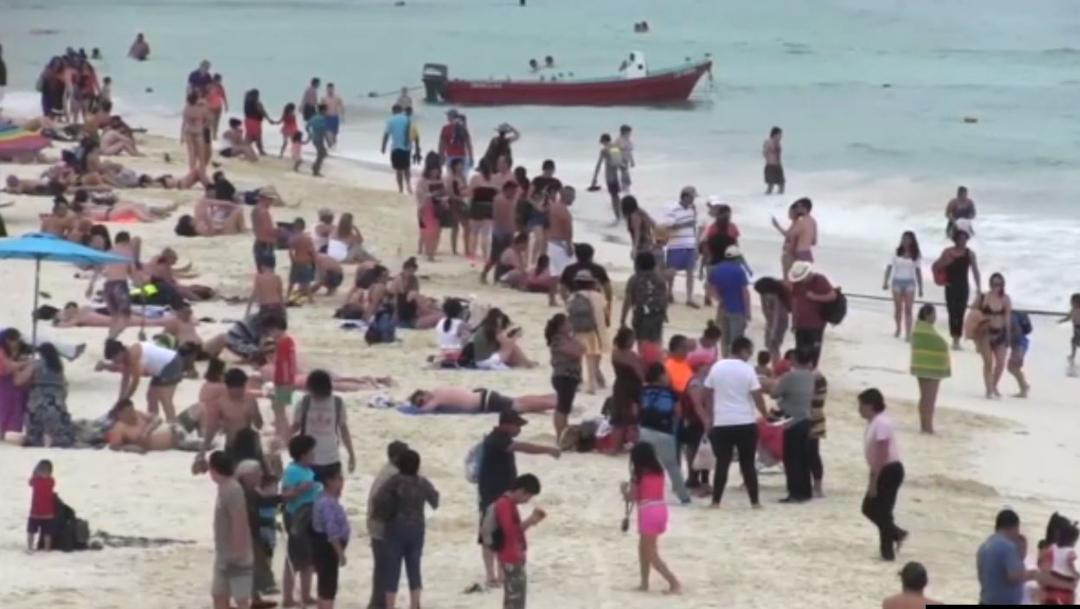 """Foto: La Secretaría de Marina activó el Plan """"Operación Salvavidas"""" en 11 municipios de Quintana Roo y 13 de Yucatán, 14 de julio de 2019 (Noticieros Televisa)"""