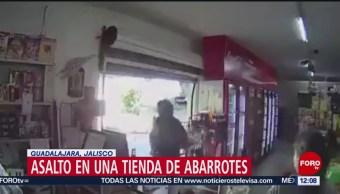 Asalto en una tienda de abarrotes en Guadalajara, Jalisco
