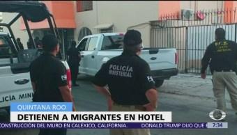 Aseguran a 61 migrantes centroamericanos en Quintana Roo