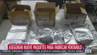 FOTO: Aseguran nueve paquetes para fabricar fentanilo en AICM, 21 Julio 2019