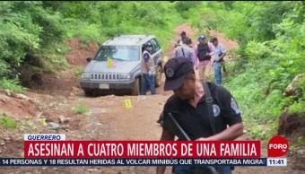 Asesinan a cuatro integrantes de una familia en Guerrero