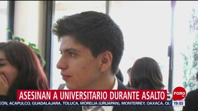 Foto: Asesinan Estudiante Asalto Satélite Edomex 17 Julio 2019