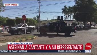 FOTO: Asesinan al cantante Luis Mendoza y a su representante con 300 tiros, 6 Julio 2019
