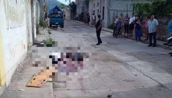Foto: Al menos dos muertos deja balacera en Huamuxtitlán, Guerrero, incluido el exdirector de la Policía Preventiva de dicho ayuntamiento, julio 14 de 2019 (Twitter: @elsurdeguerrero)