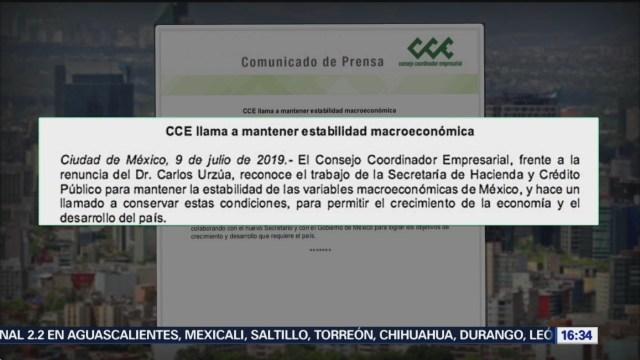 Foto: Así reaccionó la Coparmex y CCE tras la renuncia de Carlos Urzúa