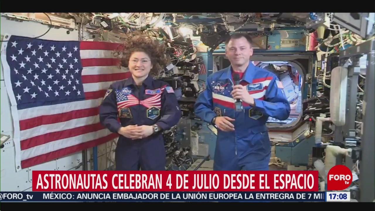 FOTO: Astronautas celebran Día de la Independencia de EU desde el espacio