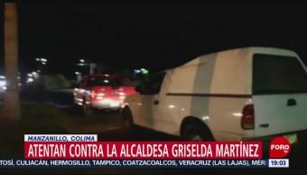 FOTO: Atentan contra la alcaldesa de Manzanillo, Griselda Martínez, 27 Julio 2019