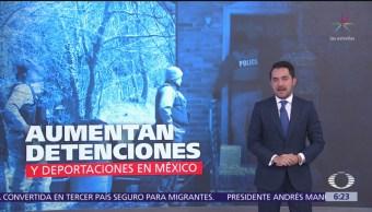 Aumentan detenciones y deportaciones en México