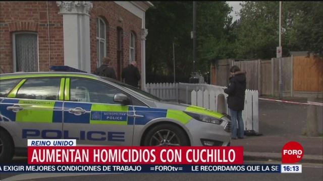 Foto: Aumentan homicidios con cuchillos en Londres