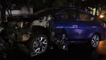 Foto: Auto choca con patrulla, 26 de julio de 2019, Ciudad de México