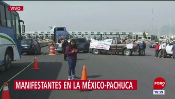 Autopista México-Pachuca, tomada por campesinos