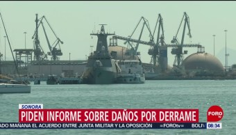 FOTO: Autoridades de Guaymas piden informe sobre daños por derrame en Mar de Cortés, 13 Julio 2019