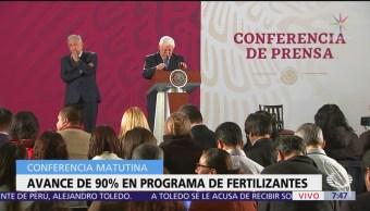 Avance de 90% en programa de fertilizantes en Guerrero