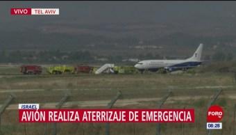 Avión aterriza de emergencia en Israel