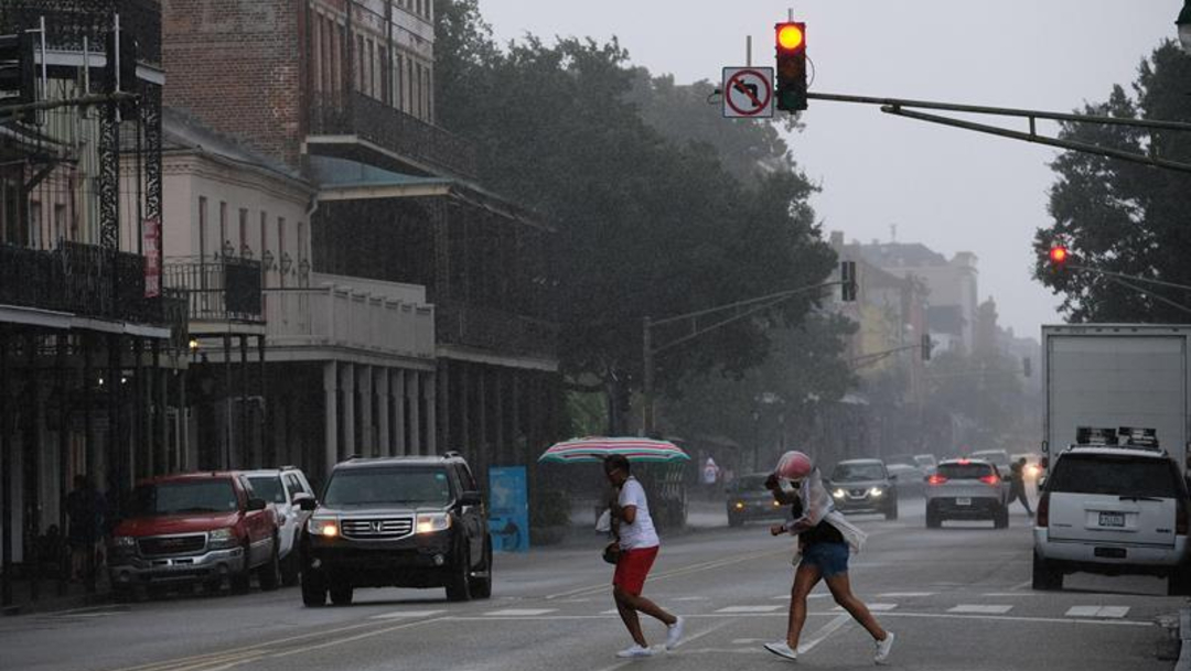 Foto: La tormenta tropical 'Barry' se acerca este viernes con vientos fuertes, 12 de julio de 2019 (EFE)