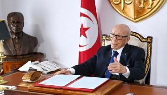 Foto: Beji Caid Essebsi, presidente de Túnez, 5 de julio de 2019, Túnez