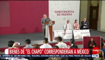 Bienes de 'El Chapo' corresponderían a México, dice AMLO