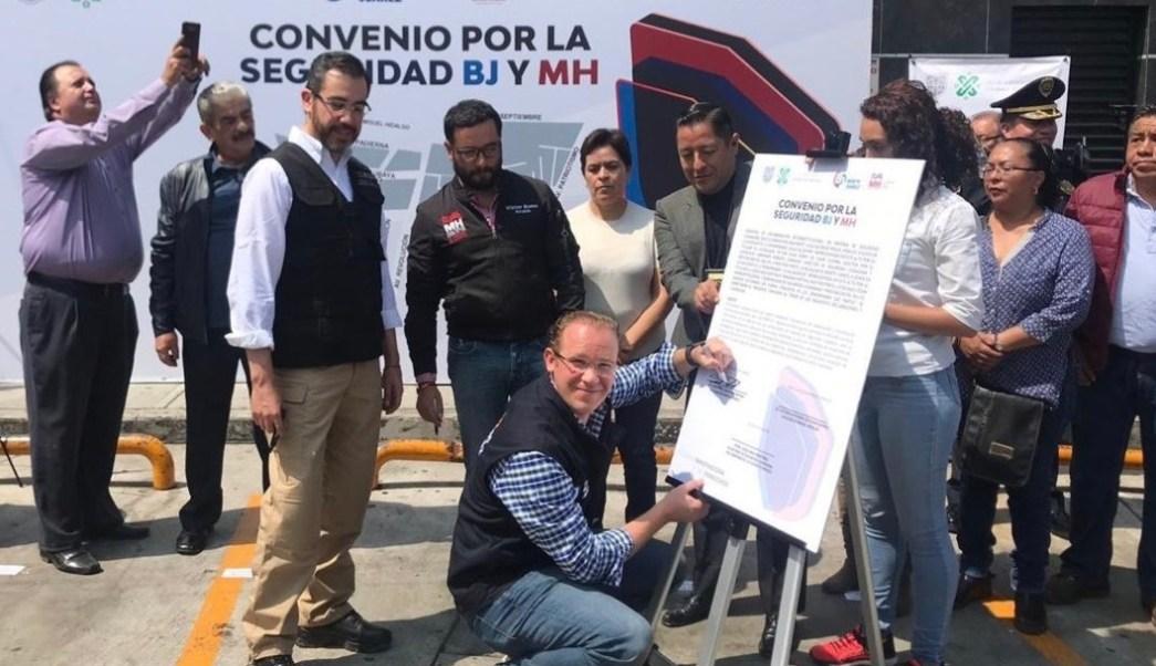 Foto: Autoridades de Benito Juárez y Miguel Hidalgo trabajarán juntas para combatir el crimen en cinco colonias que limitan entre ambas alcaldías, julio 14 de 2019 (Twitter: @STaboadaMx)