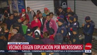 Bloquean Avenida Constituyentes, acusan que obras del Metro CDMX causan microsismos