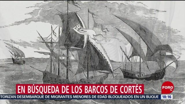 Foto: Búsqueda barcos Hernán Cortés