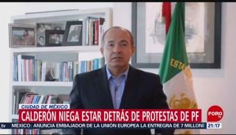 Foto: Felipe Calderón Detrás Protestas Policía Federal 4 Julio 2019