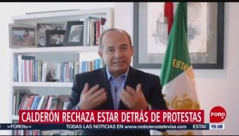 Foto: Felipe Calderón niega detrás protestas Policia Federal 4 Julio 2019