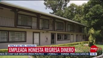 Camarera de hotel en Hidalgo devuelve 5 mil dólares